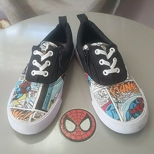 MARVEL Spider-Man Zip Slip-on Sneakers Size 1